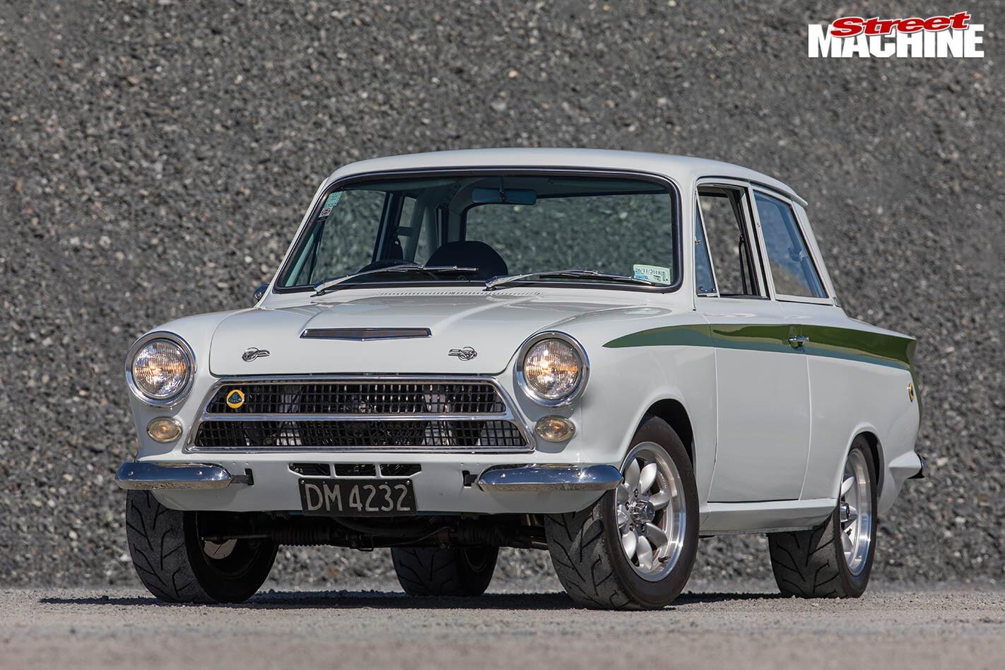 Lotus Cortina replica front