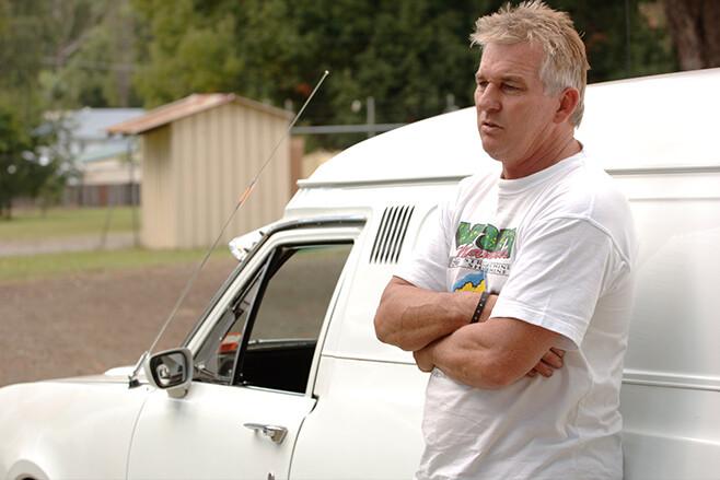 White HG Holden van