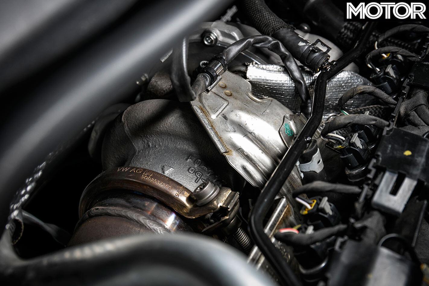 VW Golf R engine bay