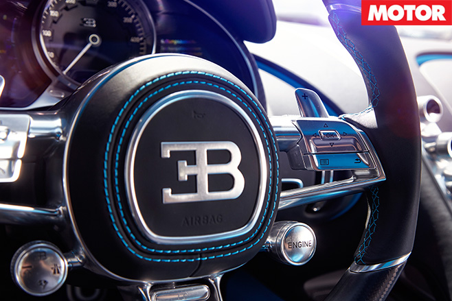 Bugatti Chiron steering wheel