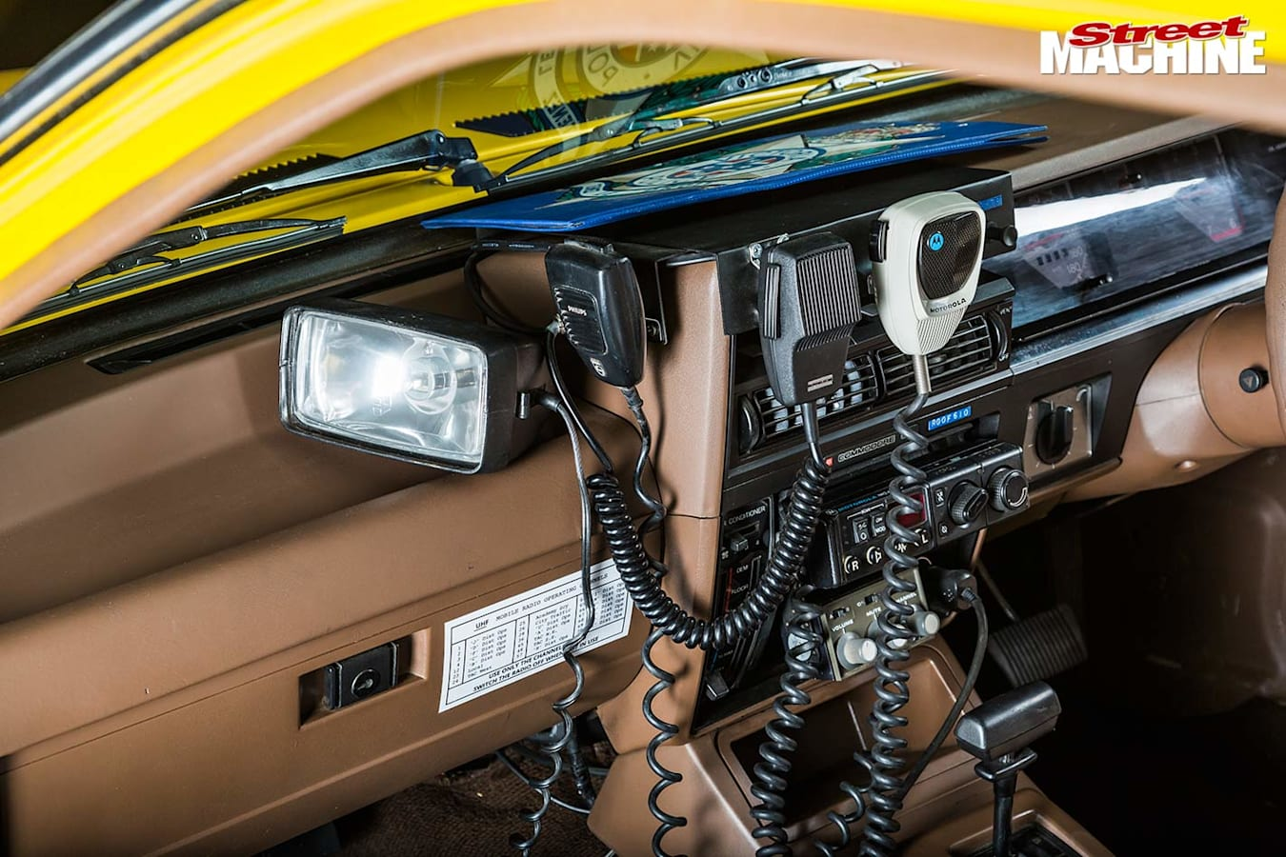 Holden VK Cop car console
