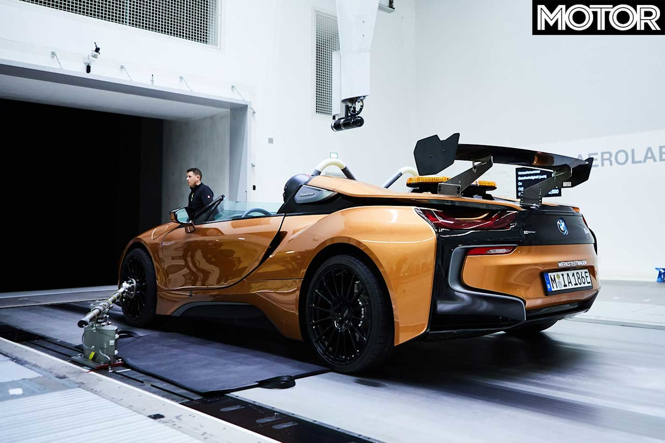 Modified BMW I 8 Roadster Formula E Safety Car Tail Wing Build Jpg