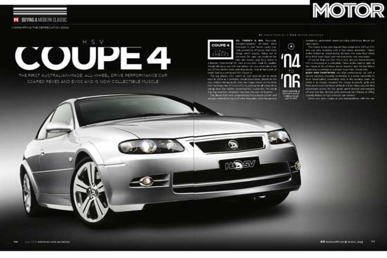 MOTOR Magazine July 2019 Issue HSV Coupe 4 Buyers Guide Jpg