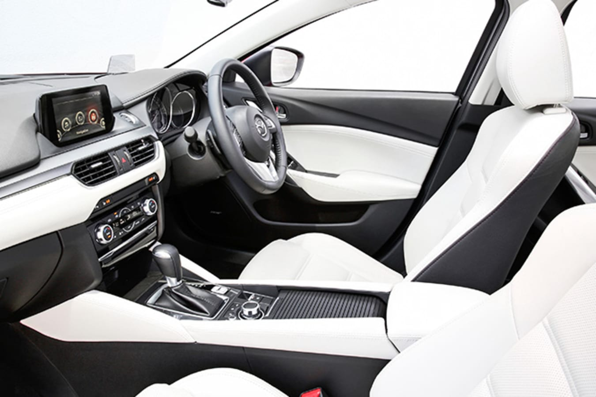 Mazda 6 interior dashboard multimedia touchscreen seats