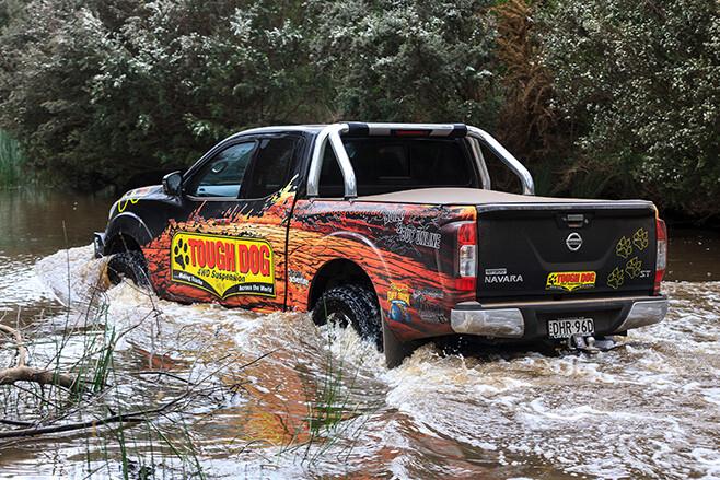 Tough Dog NP300 rear water driving