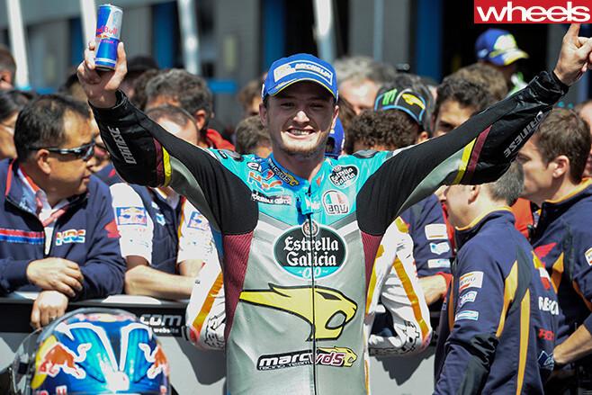 Jack -Miller -celebrating -win -wheelie -Assen -2016