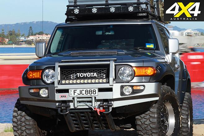 Modified Toyota FJ Cruiser front bar