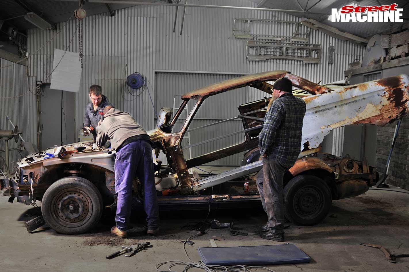ford falcon body swap