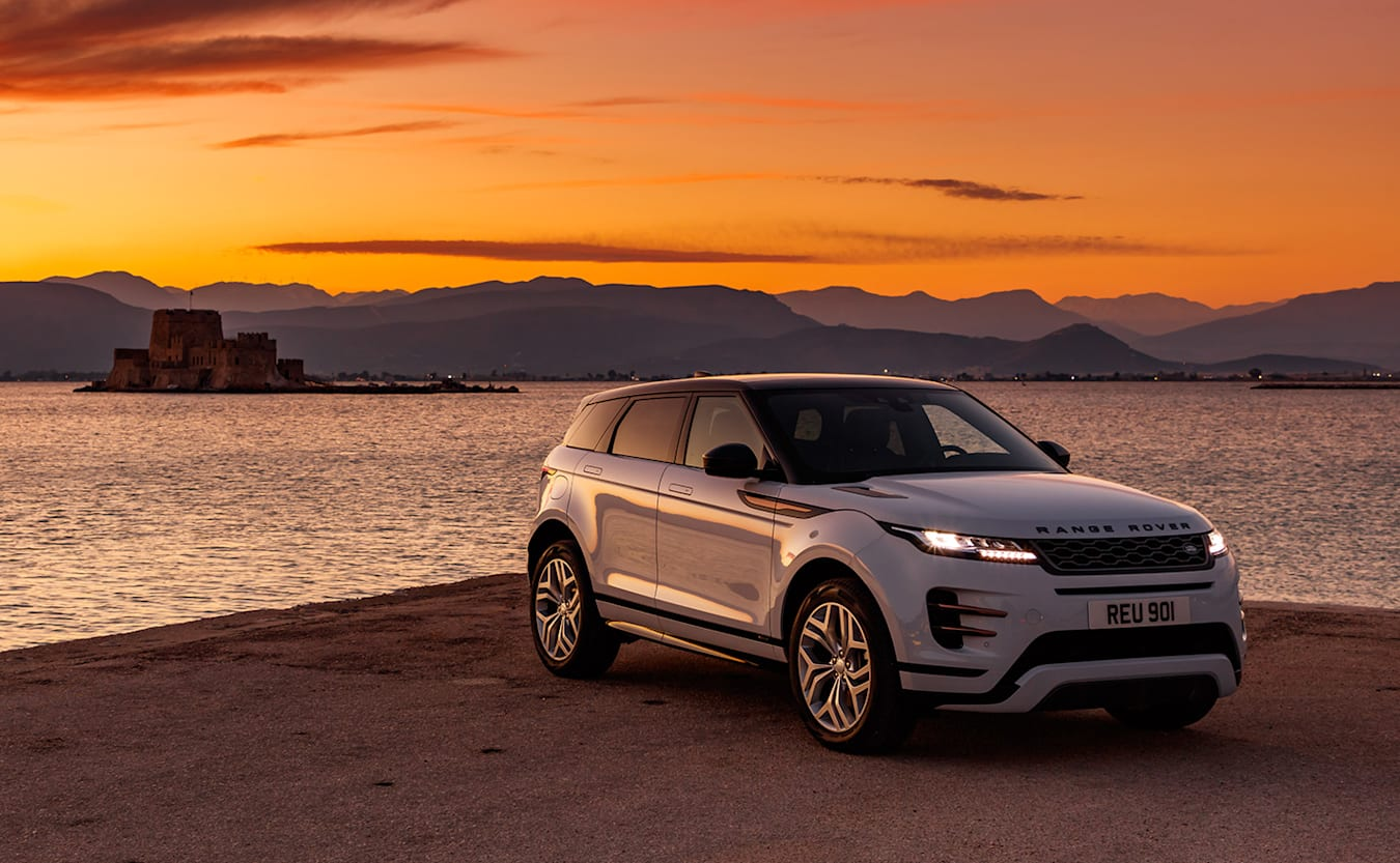 range rover evoque sunset