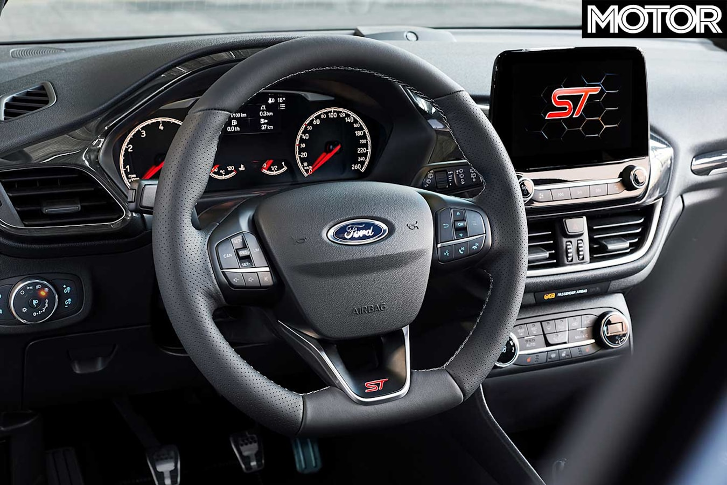 2018 Ford Fiesta St Performance Review Steering Cockpit Jpg