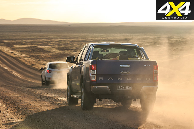 Driving the Fords 4x4s
