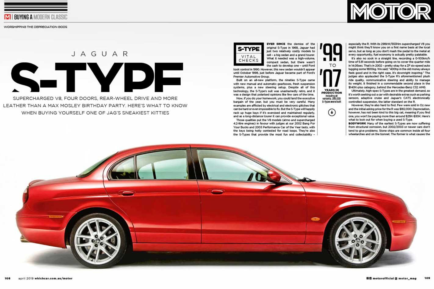 MOTOR Magazine April 2019 Issue JAGUAR S TYPE R Used Car Feature Jpg