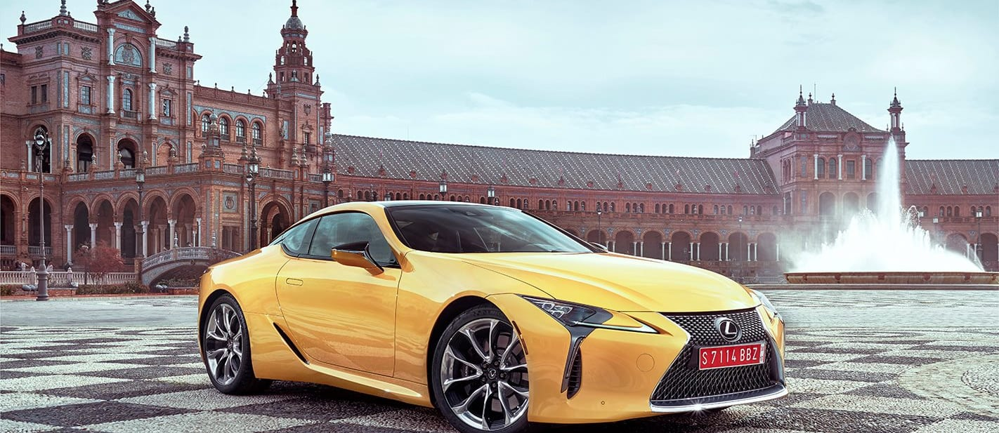 2017 Lexus LC Front Side yellow static