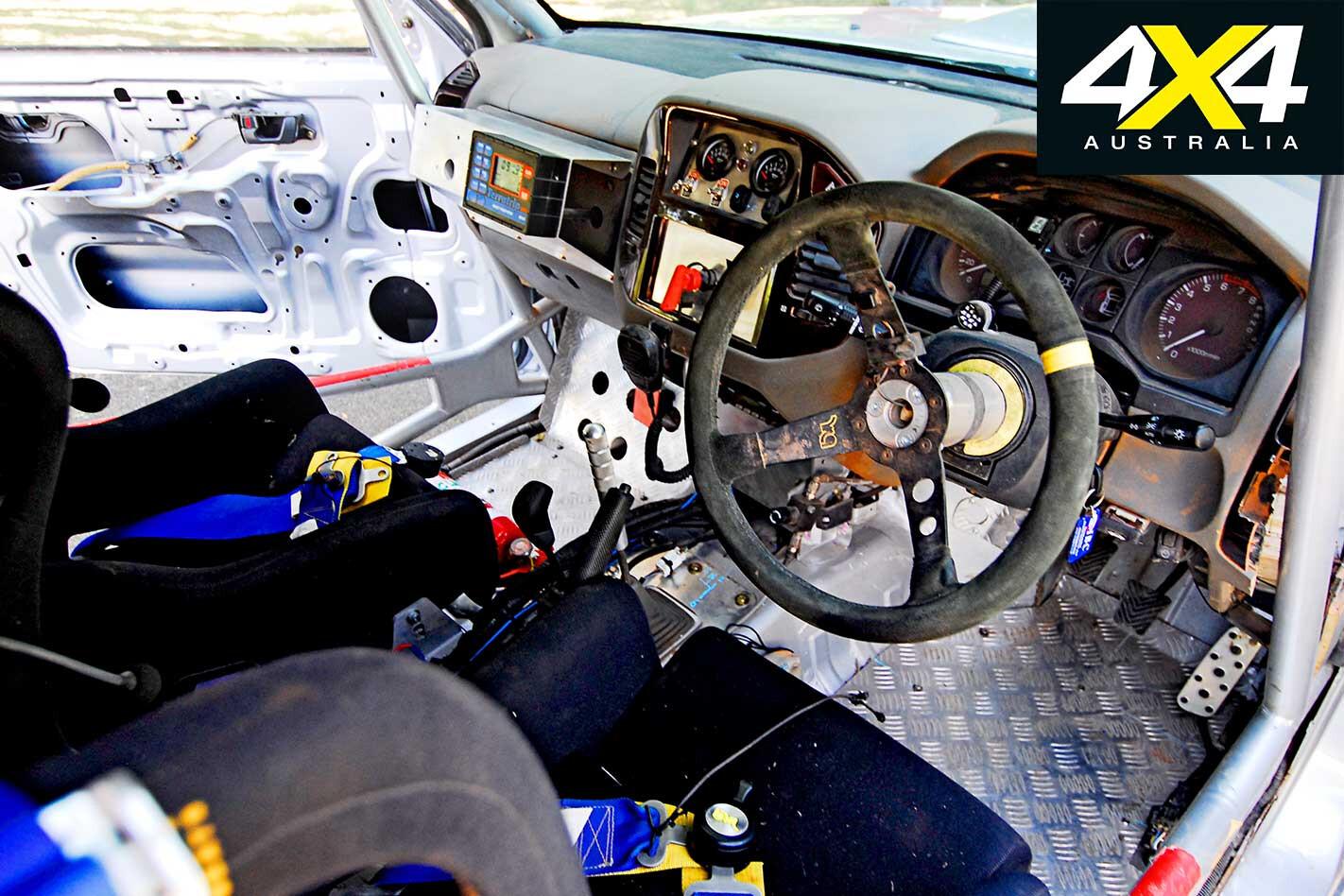2008 Safari Rally Mitsubishi Pajero Interior Jpg