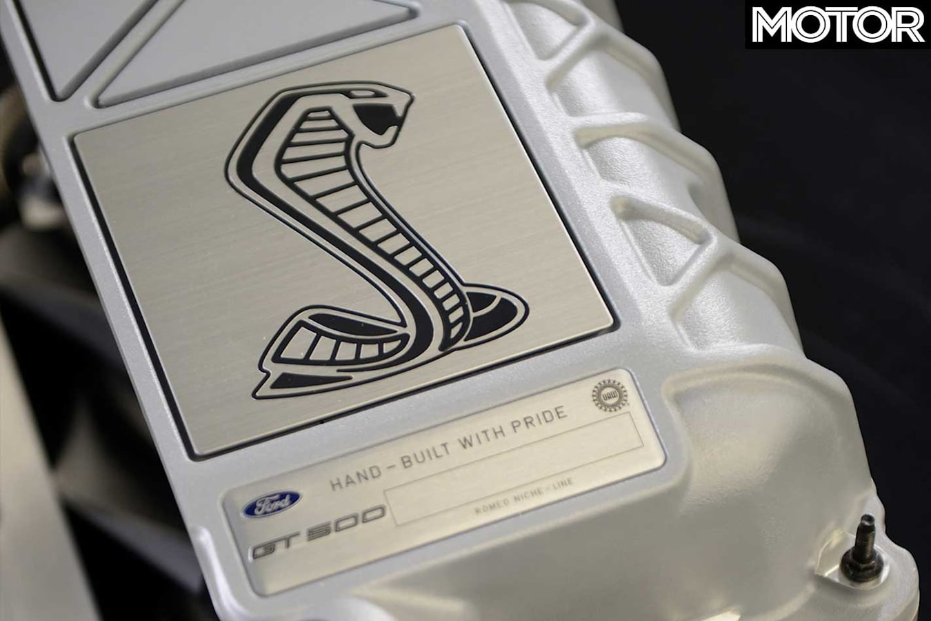 2020 Ford Mustang Shelby GT 500 Engine Badge Jpg