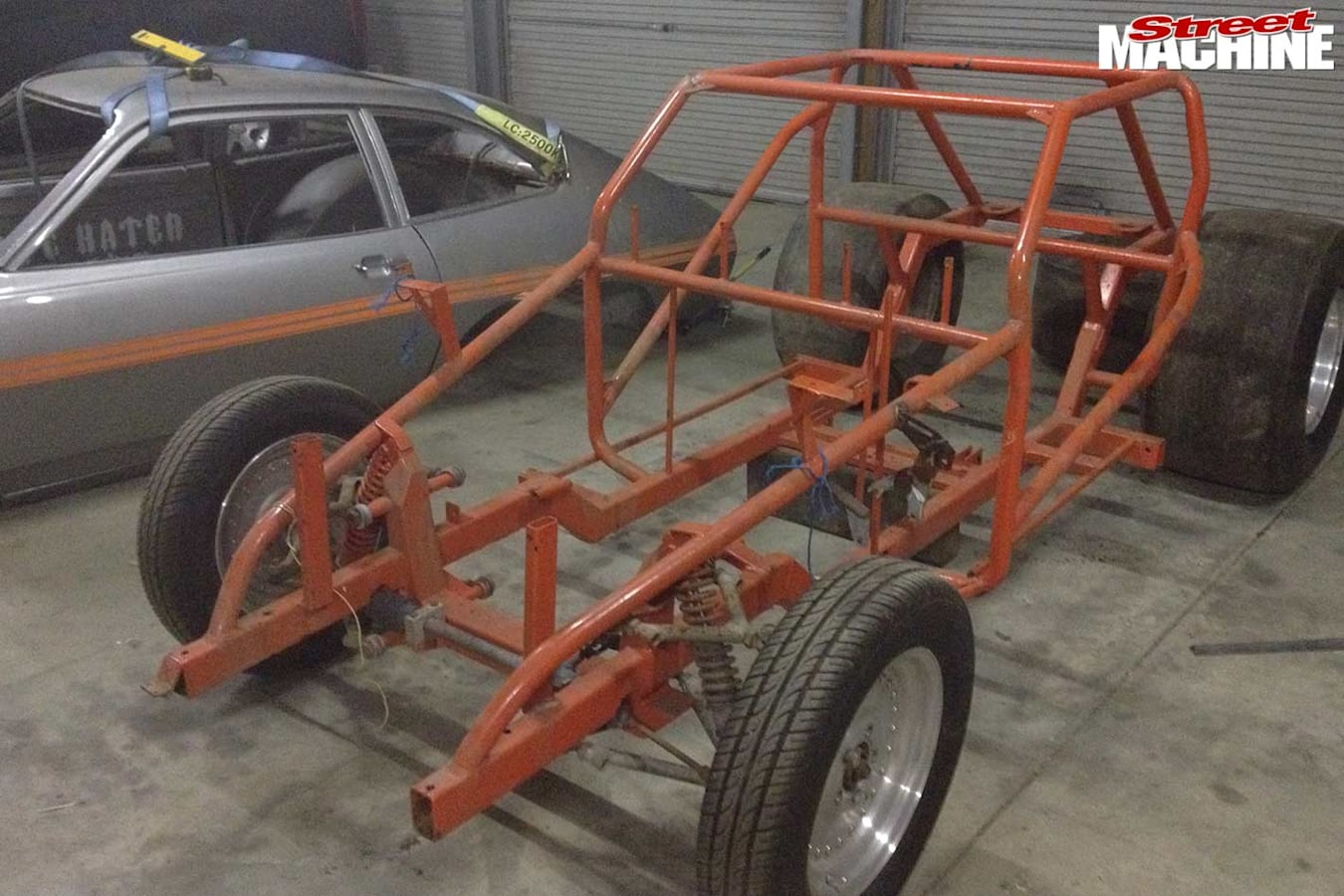 Ford Pinto drag car resto