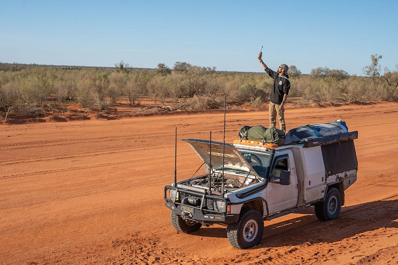 broken down in the outback
