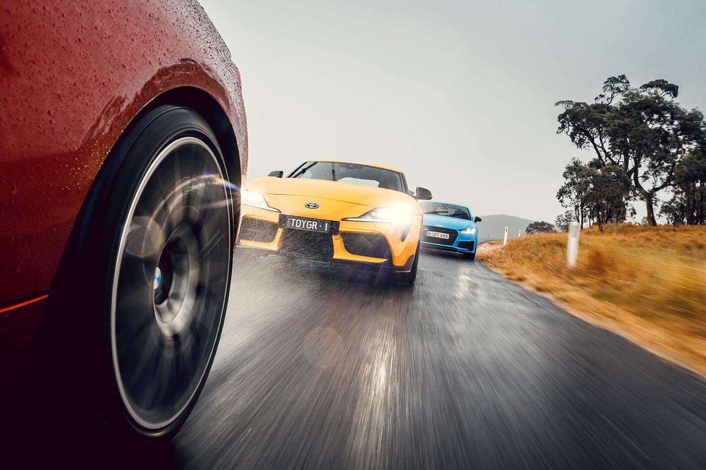 Toyota Supra vs BMW M2 Competition Pure Vs Audi TT S quattro comparo