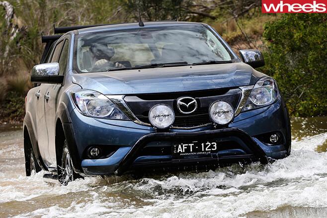 Mazda -BT-50-front -wading -river