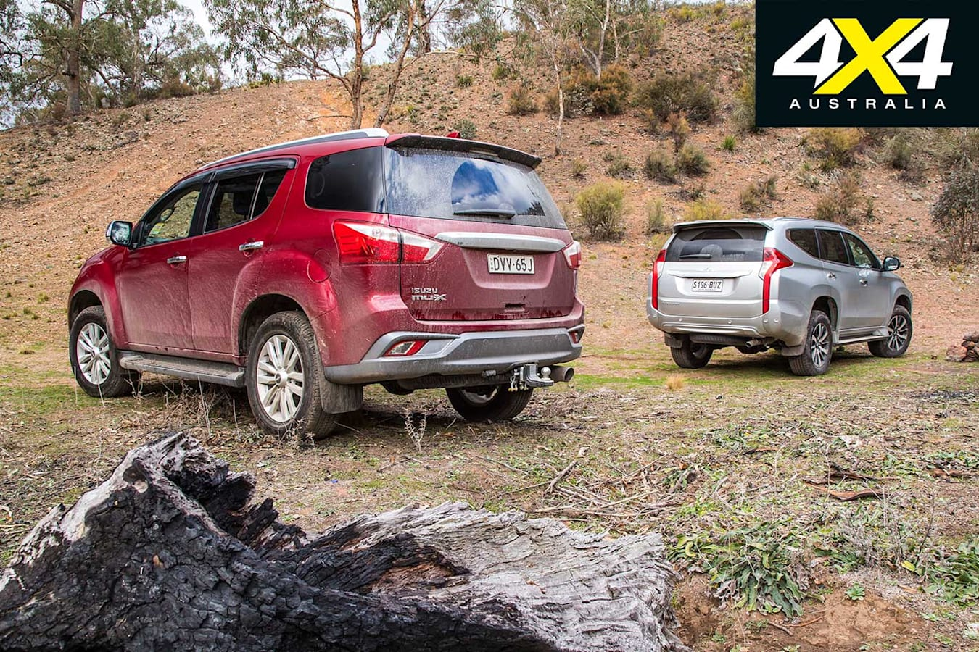 2018 Isuzu MU X Vs Mitsubishi Pajero Sport Comparison Jpg