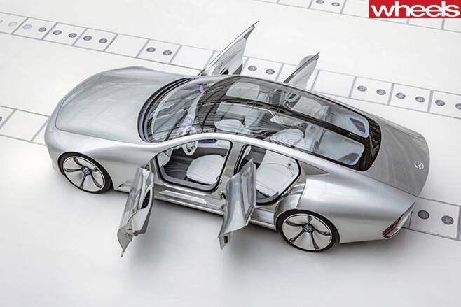 Mercedes -Coupe -IAA-profile -doors -open