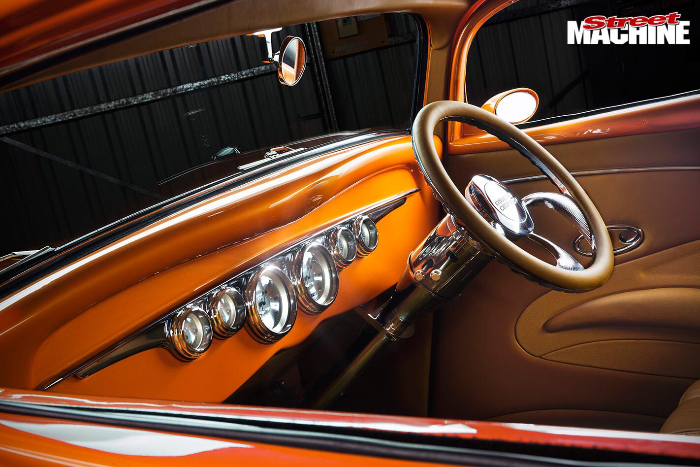 Ford three window coupe dash