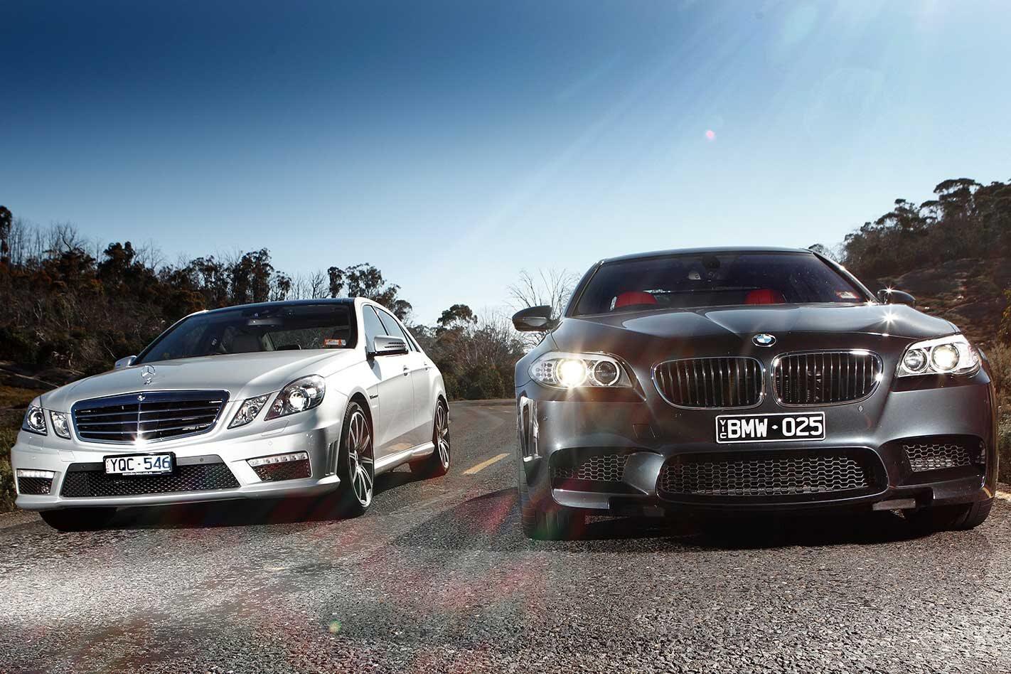 2010 BMW M5 vs Mercedes-Benz E63 AMG comparison