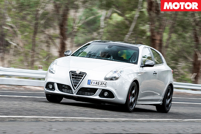Alfa Giuletta QV driving