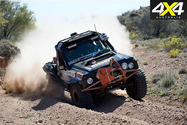 Driving in the dirt