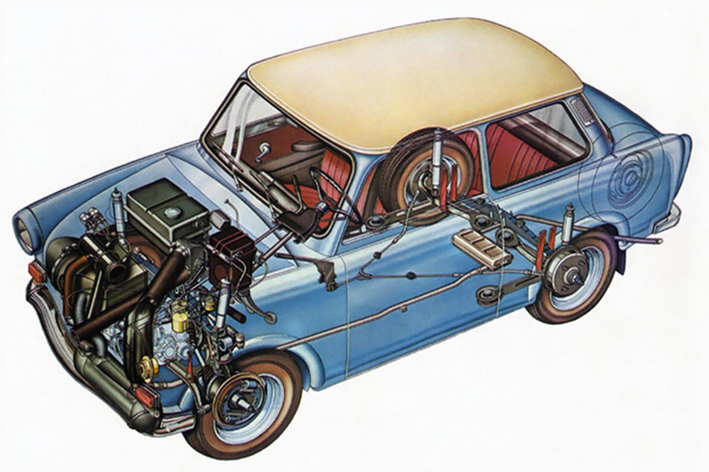 1964 Trabant 601 Cutaway 02 Jpg