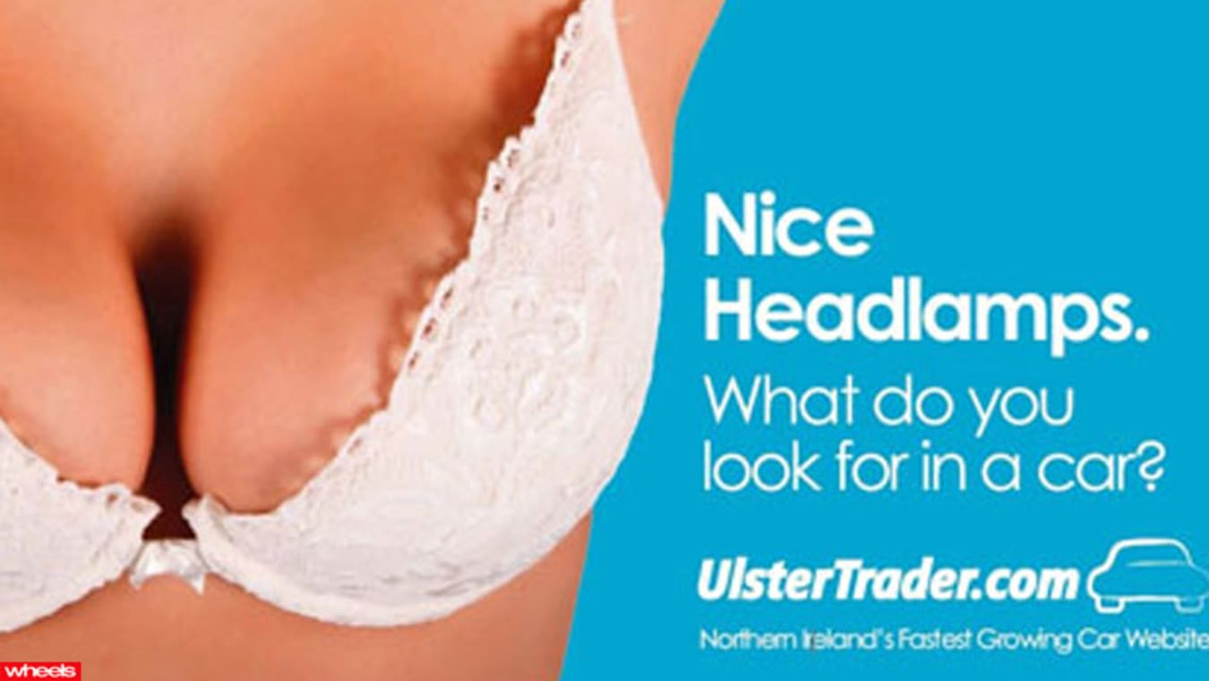 Ulster Trader sexist car ad