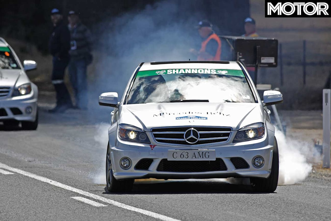 Tackling The Classic Adelaide With C 63 Amg Burnout Jpg