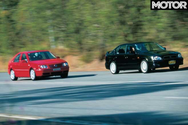 2001 Subaru Liberty B 4 Vs Volkswagen Bora V 6 4 Motion Performance Comparison Jpg