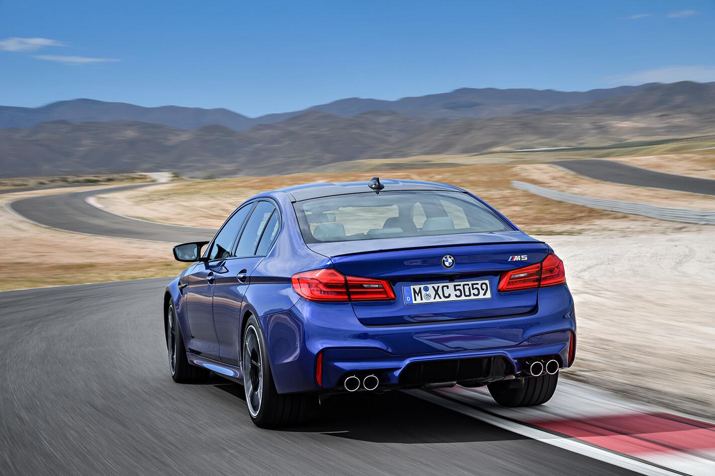 2018 BMW M5 rear