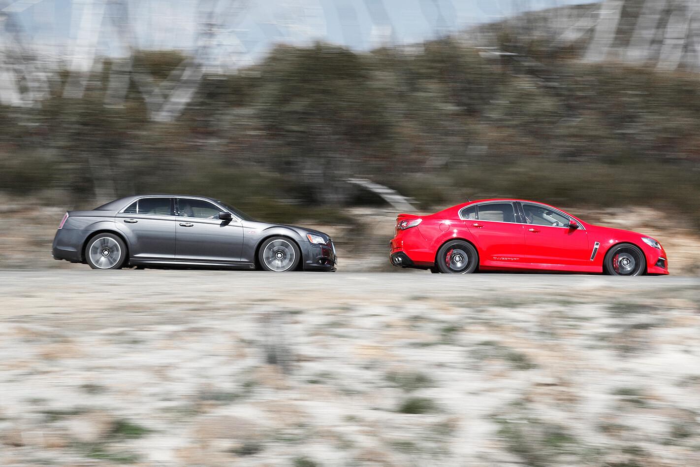 HSV Clubsport vs Chrysler 300 SRT8 Core testing