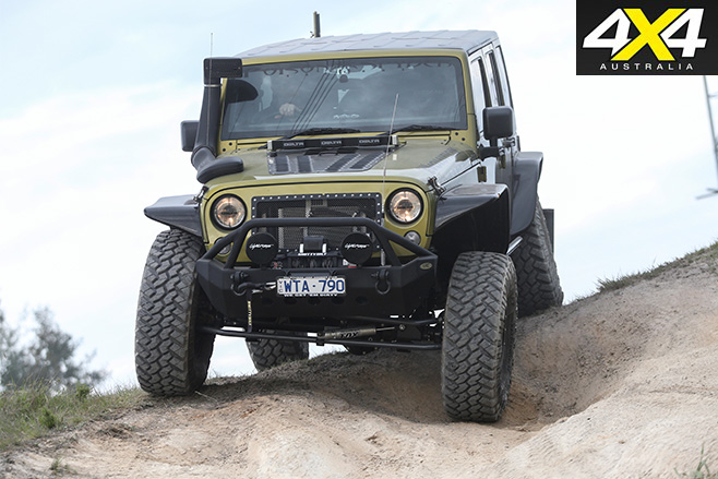 Jeep wrangler unlimited downhill