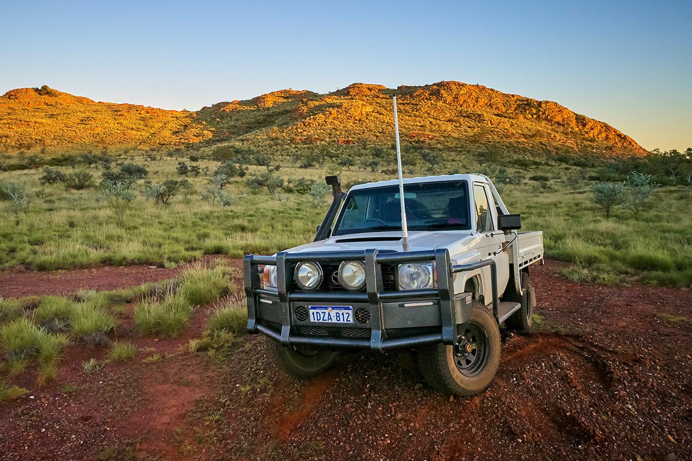Land Cruiser in Pilbara, WA