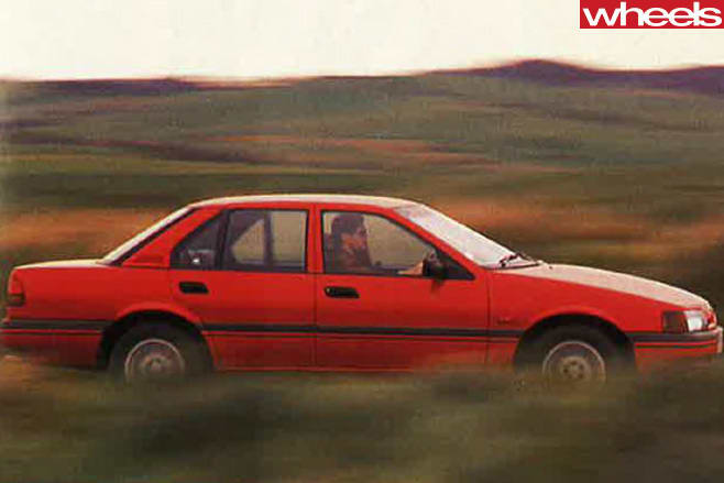 1989-ford -falcon -side -driving