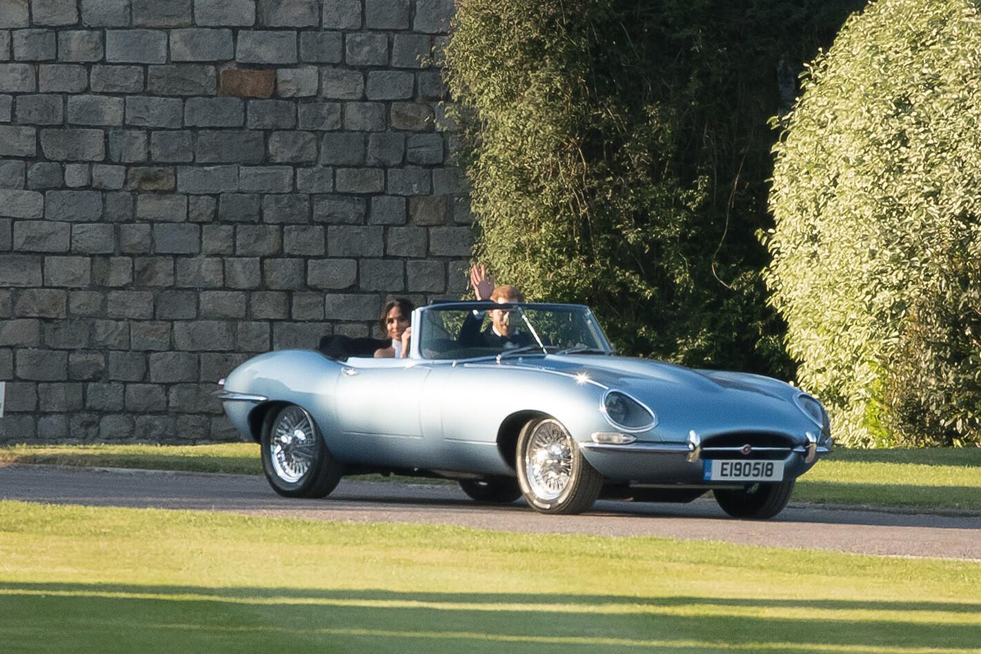 Jaguar E-Type electric Meghan and Harry