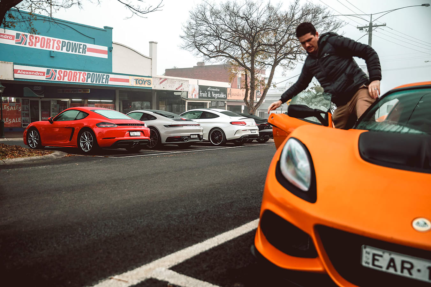 Sports car test