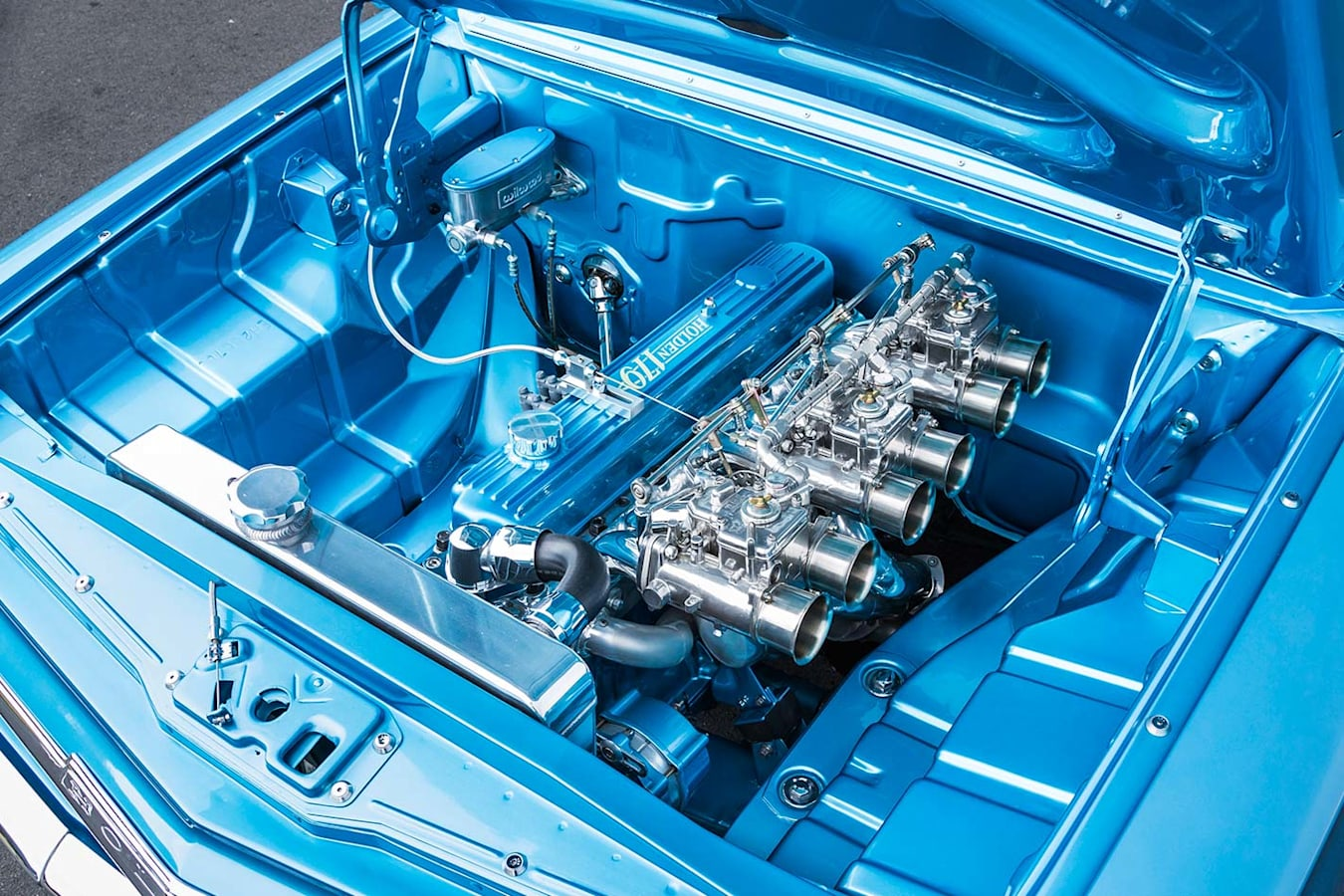 Holden EH wagon engine bay