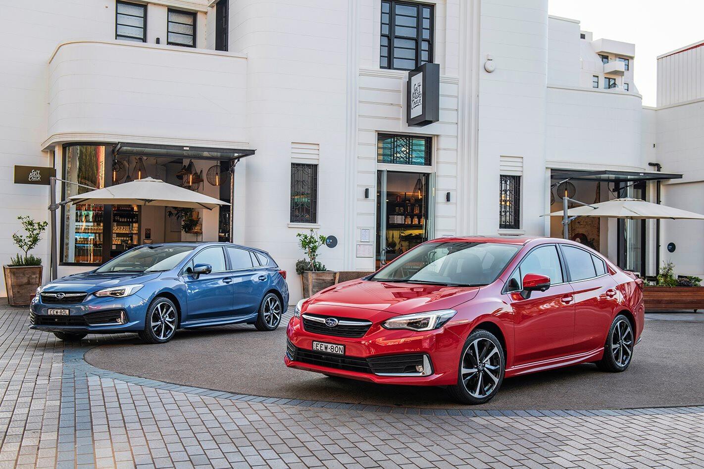 2020 Subaru Impreza hatchback and sedan