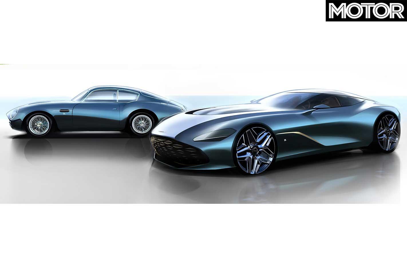 Aston Martin DBS GT Zagato Design Concept DB 4 GT Zagato Continuation Front Jpg