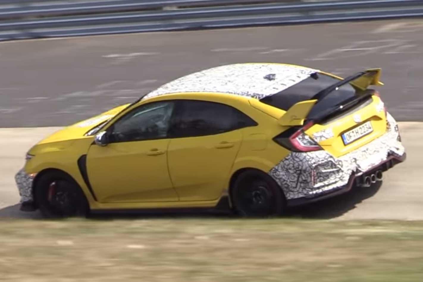 2020 Honda Civic Type R Nurburgring Spy Footage Rear Jpg