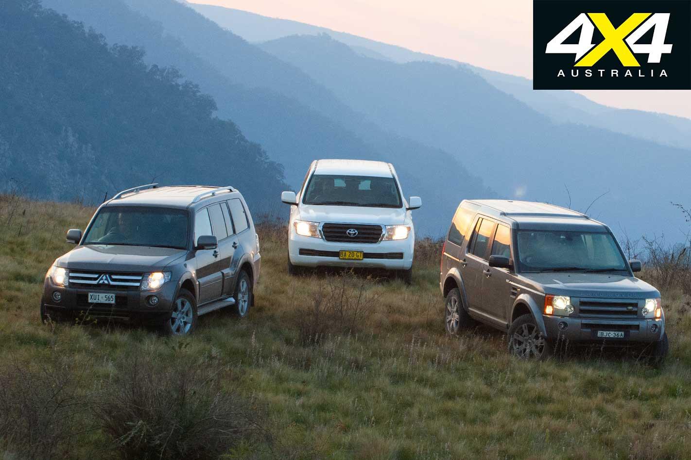 2009 Land Rover Discovery 3 Vs Toyota Land Cruiser Vs Mitsubishi Pajero 4 X 4 Comparison Specifications Jpg