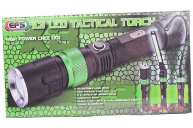 EFS X3 LED tactical torch
