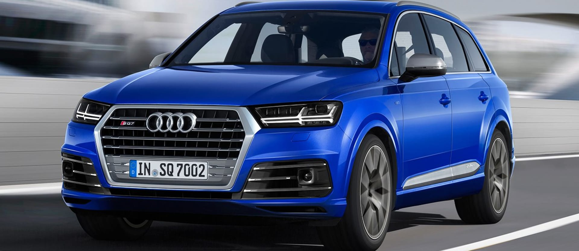 Audi SQ 7 Driving Front Side Jpg