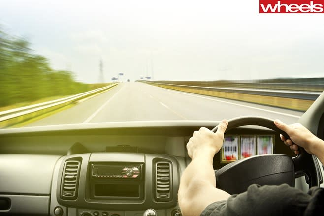 Person -driving -in -car -taking -a -gamble -with -speed-
