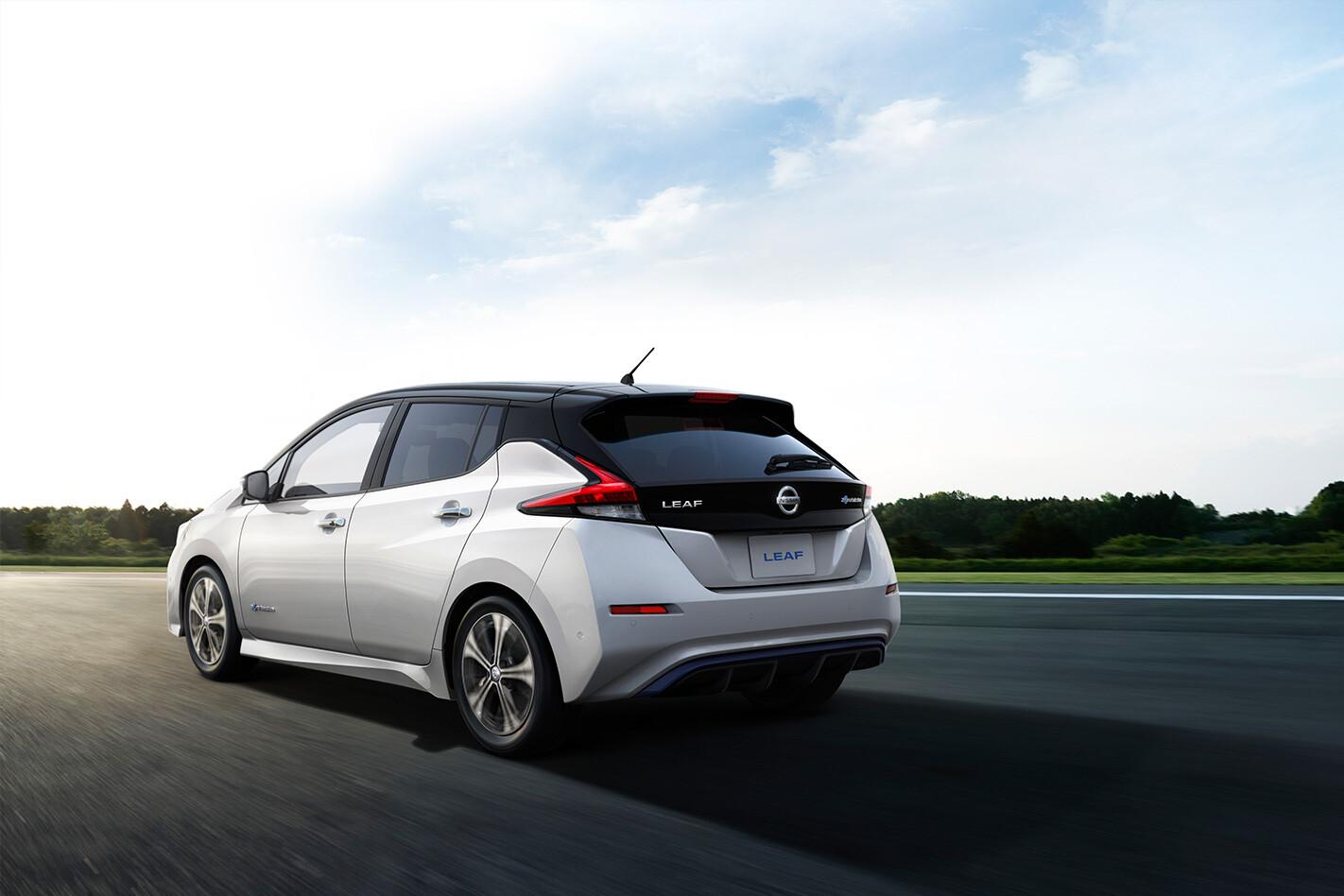Nissan Leaf Rear Quarter Action Jpg