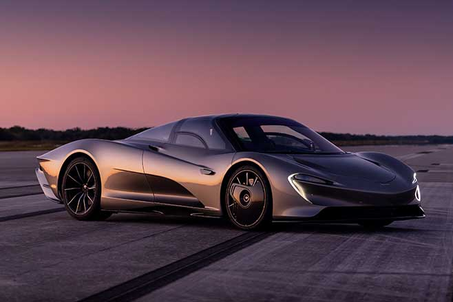 McLaren Speedtail is a three-seat hypercar with a top speed of 403km/h.